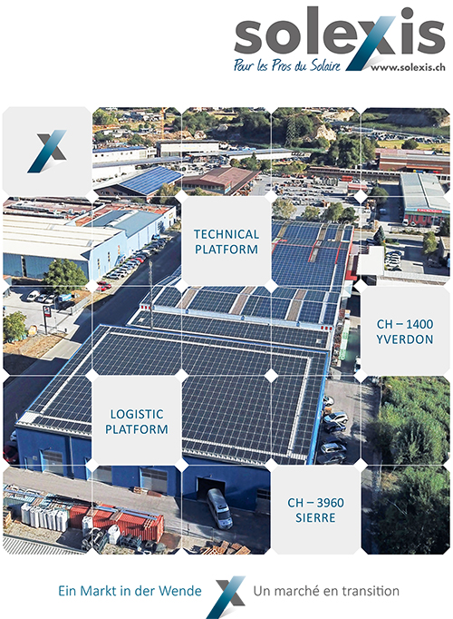 Image spécialiste des installations solaires photovoltaïquesde la plaquette Solexis