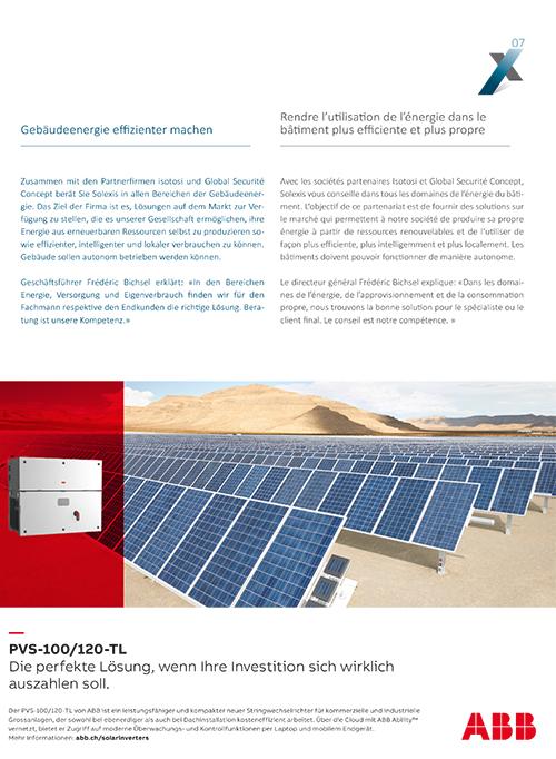 Image le la plaquette Solexis, spécialiste des installations solaires photovoltaïques